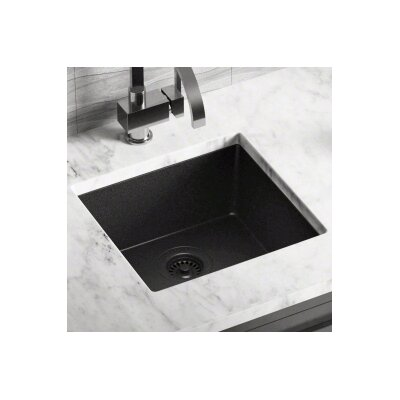 17.75 x 16.88 Single Bowl AstraGranite Kitchen Sink Finish: Black