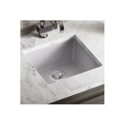 17.75 x 16.88 Single Bowl AstraGranite Kitchen Sink Finish: Silver