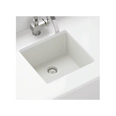 17.75 x 16.88 Single Bowl AstraGranite Kitchen Sink Finish: White