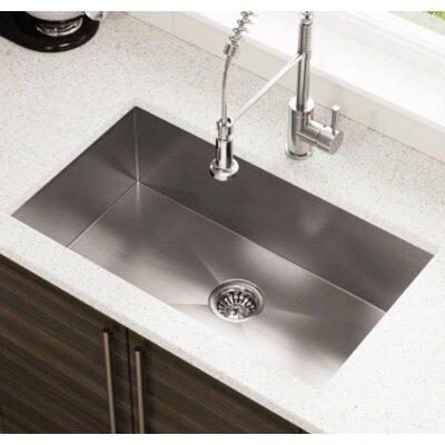32 x 19 Industrial Stainless Steel Undermount Kitchen Sink