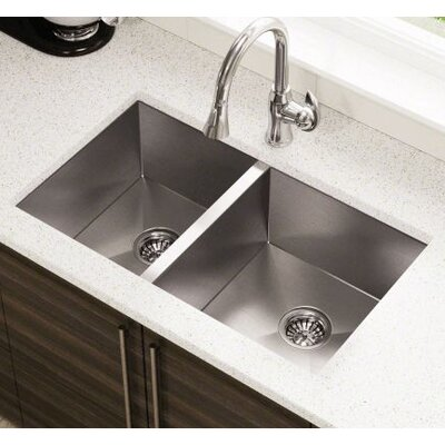 32 x 19 Double Stainless Steel Undermount Kitchen Sink
