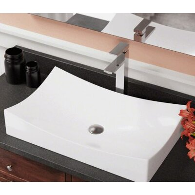 Cheap Porcelain Rectangular Vessel Bathroom Sink Sink Finish White for sale