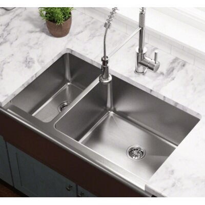 32.75 x 20 Offset Apron Kitchen Sink