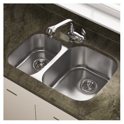 29.38 x 20.75 Double Bowl Undermount Kitchen Sink