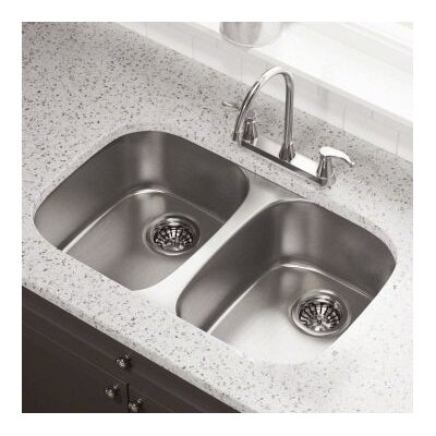 29.25 x 18.5 Double Bowl Undermount Kitchen Sink