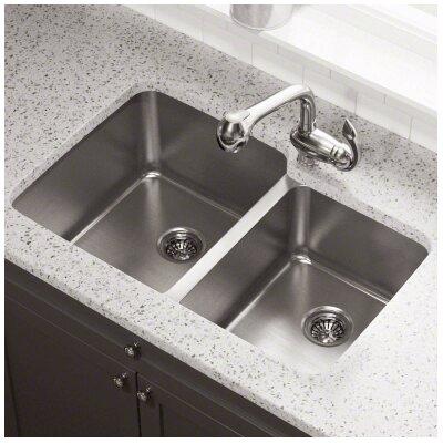 32 x 20.75 Double Bowl Undermount Kitchen Sink