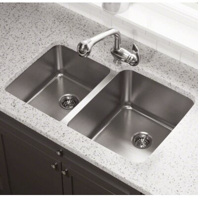 32 x 20.75 Double Bowl Undermount Kitchen Sink