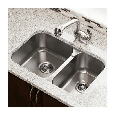 27.5 x 18 Double Bowl Undermount Kitchen Sink