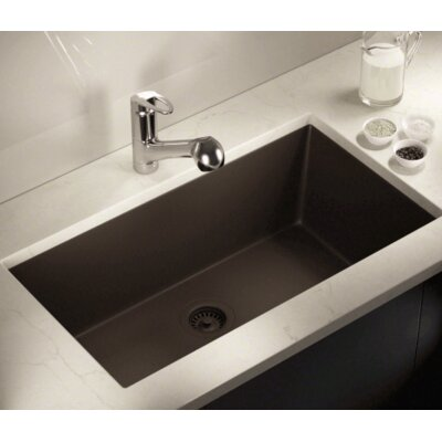 32.63 x 18.38 Single Bowl Undermount Kitchen Sink Finish: Mocha
