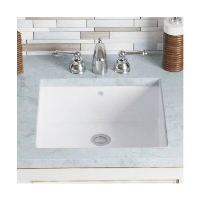 Vitreous China Rectangular Undermount Bathroom Sink with Overflow Sink Finish: White