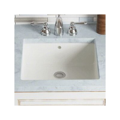 Rectangular Undermount Bathroom Sink with Overflow Sink Finish: Bisque