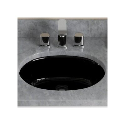 Vitreous China Oval Undermount Bathroom Sink Sink Finish: Black