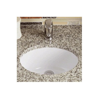 Vitreous China Oval Undermount Bathroom Sink Sink Finish: White