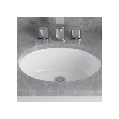 Porcelain Oval Undermount Bathroom Sink Sink Finish: White