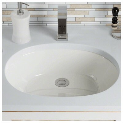 Vitreous China Oval Undermount Bathroom Sink Sink Finish: Bisque
