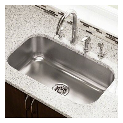 30.5 x 18.13 Single Undermount Stainless Steel Kitchen Sink