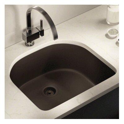 24.75 x 22 Single Undermount Kitchen Sink Finish: Mocha