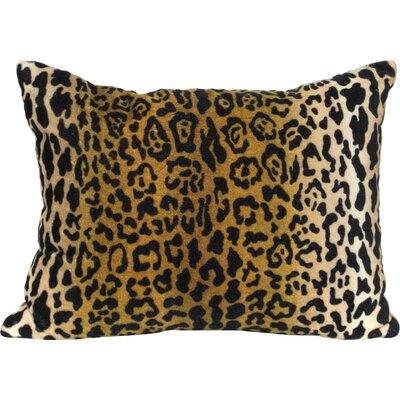 Leopard Velvet Lumbar Pillow