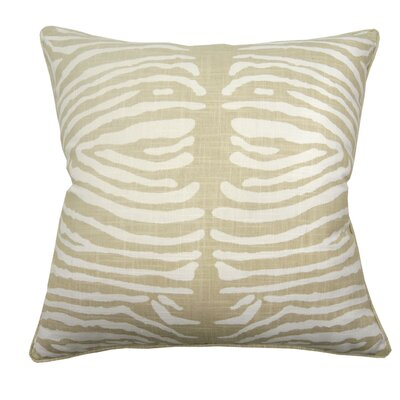 Zebra Double Sided Block Print Throw Pillow Color: Natural