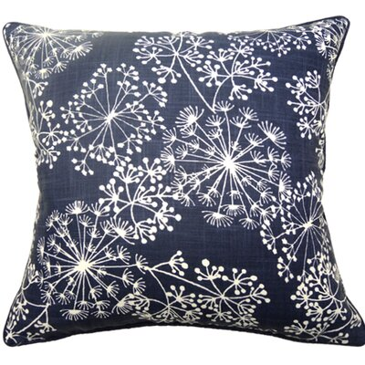 Starburst Double Sided Block Print Throw Pillow Color: Navy