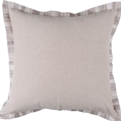 Embroidered Border Throw Pillow Color: Natural