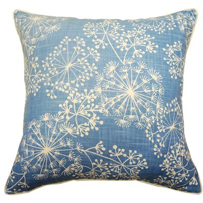 Starburst Double Sided Block Print Throw Pillow Color: French Blue