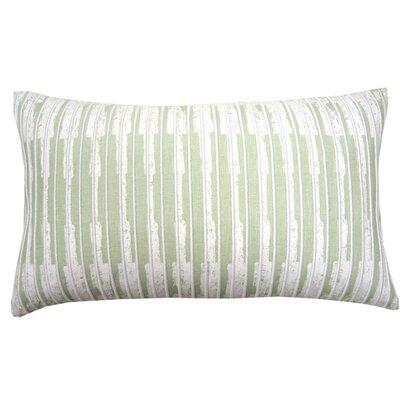 Paint Flecks Embroidered Cotton Lumbar Pillow Color: Mint