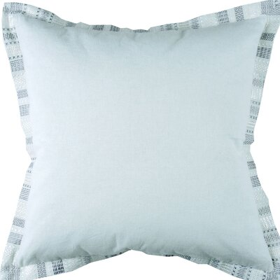 Embroidered Border Throw Pillow Color: Mint