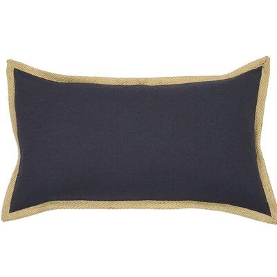 Jute Border Lumbar Pillow Color: Navy