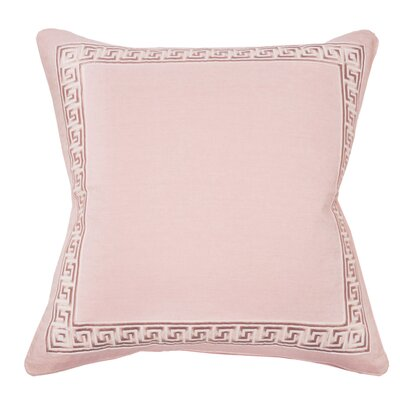Greek Key Throw Pillow Color: Blush
