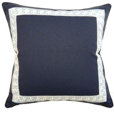 Greek Key Throw Pillow Color: Navy