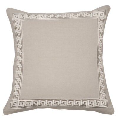 Greek Key Throw Pillow Color: Natural