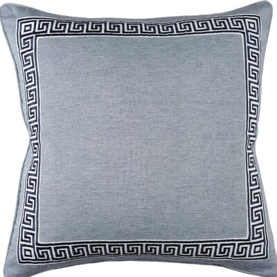 Greek Key Throw Pillow Color: French Blue