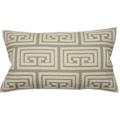 Greek Key Oversized Lumbar Pillow Color: Natural