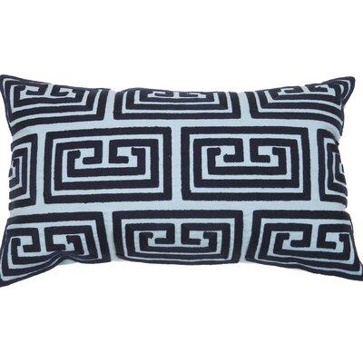 Greek Key Oversized Lumbar Pillow Color: Navy