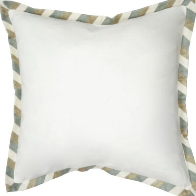 Stripe Crewel Cotton Throw Pillow Color: White/Natural