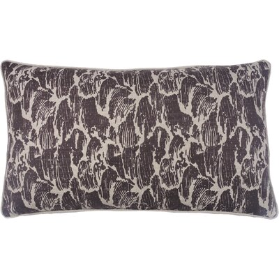 Stormy Waves Double Sided Block Print Lumbar Pillow Color: Morel
