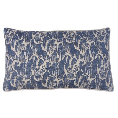 Stormy Waves Double Sided Block Print Lumbar Pillow Color: Peacock