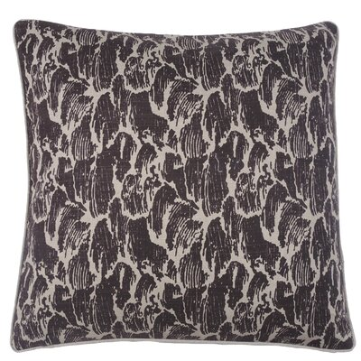 Stormy Waves Double Sided Block Print Throw Pillow Color: Morel