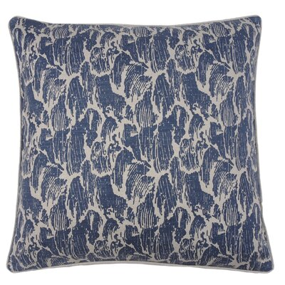 Stormy Waves Double Sided Block Print Throw Pillow Color: Peacock