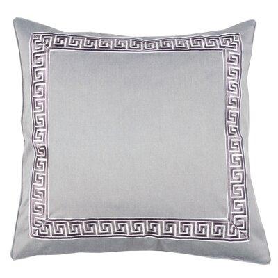 Greek Key 100% Cotton Throw Pillow Color: Morel