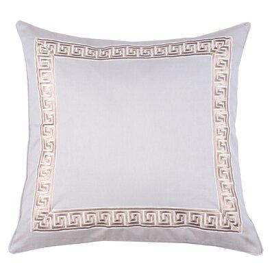 Greek Key 100% Cotton Throw Pillow Color: Stone