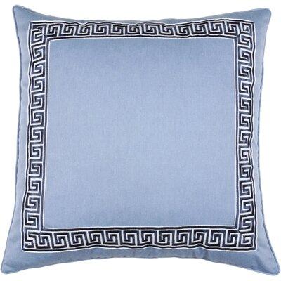 Greek Key 100% Cotton Throw Pillow Color: Peacock