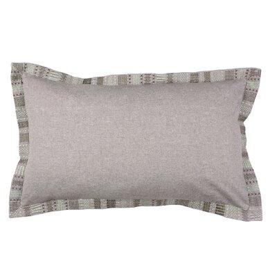 Embroidered Border 100% Cotton Lumbar Pillow Color: Morel