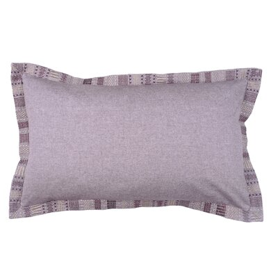 Embroidered Border 100% Cotton Lumbar Pillow Color: Fig