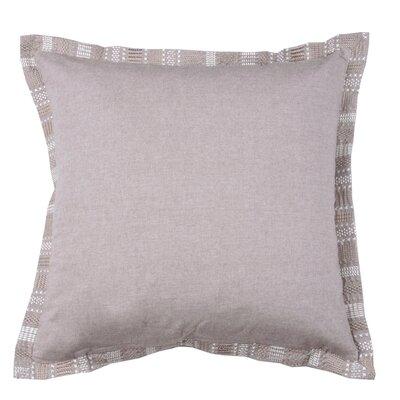 Embroidered Border 100% Cotton Throw Pillow Color: Morel
