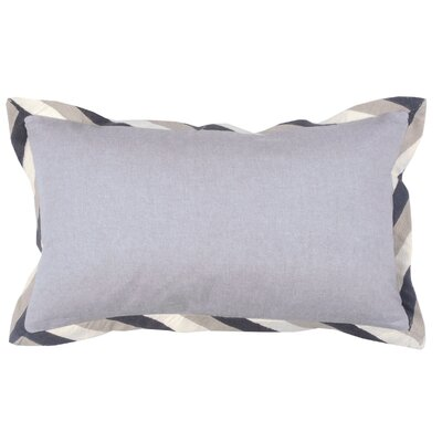 Crewel Border 100% Cotton Lumbar Pillow Color: Pewter