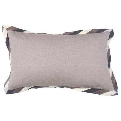 Crewel Border 100% Cotton Lumbar Pillow Color: Morel