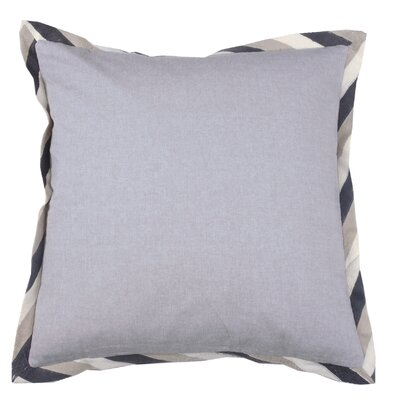 Crewel Border 100% Cotton Throw Pillow Color: Pewter