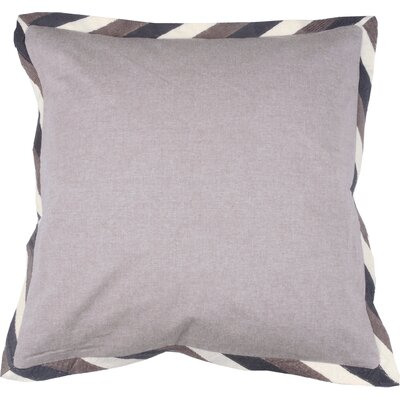 Crewel Border 100% Cotton Throw Pillow Color: Morel